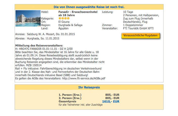 Hotel Fanadir El Gouna ab Salzburg